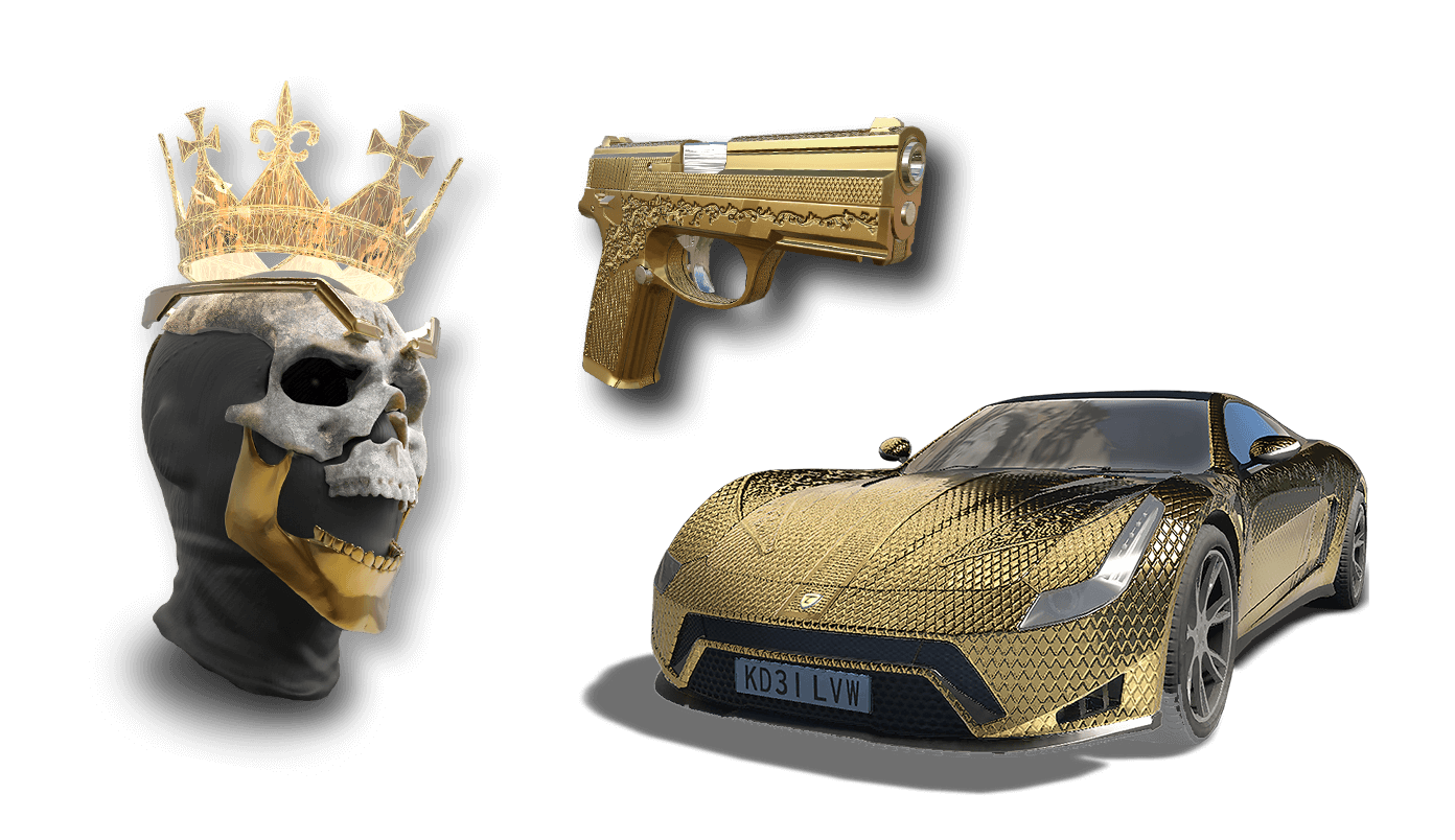 Preorder now And unlock the Golden king pack